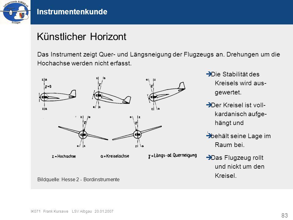 Künstlicher Horizont Instrumentenkunde