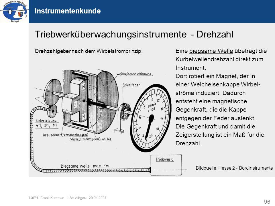 Triebwerküberwachungsinstrumente - Drehzahl