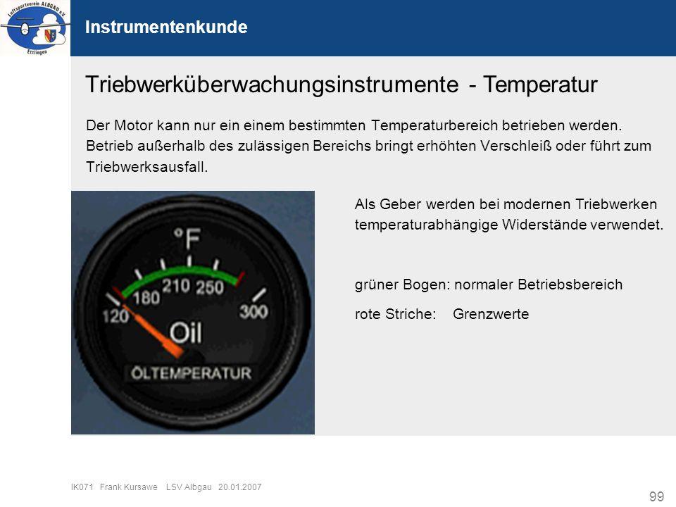 Triebwerküberwachungsinstrumente - Temperatur