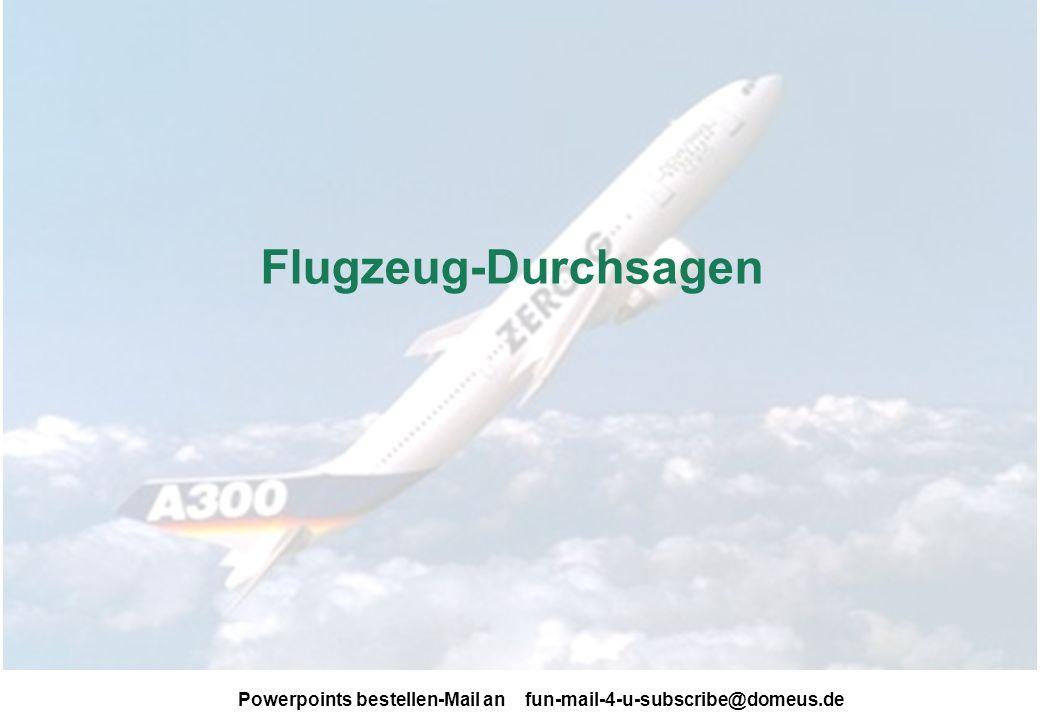 Flugzeug-Durchsagen