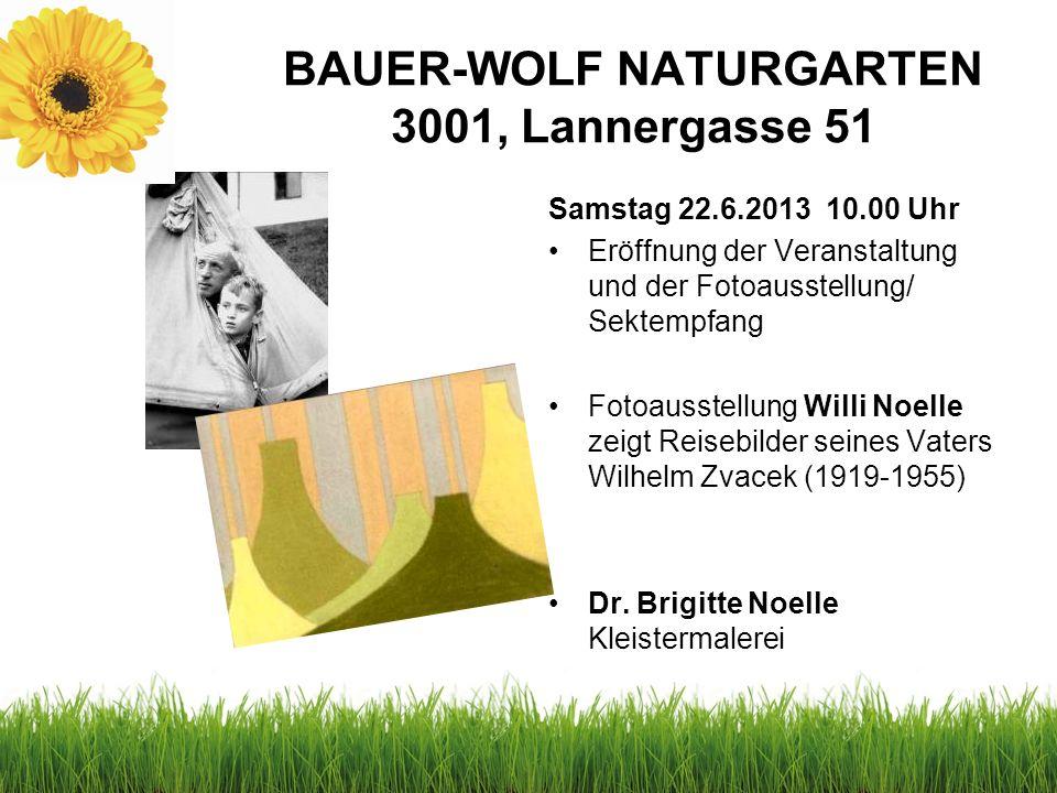 BAUER-WOLF NATURGARTEN 3001, Lannergasse 51