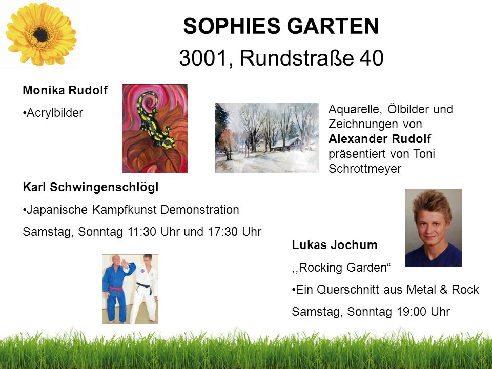 SOPHIES GARTEN 3001, Rundstraße 40 Monika Rudolf Acrylbilder