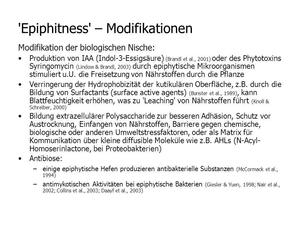 Epiphitness – Modifikationen