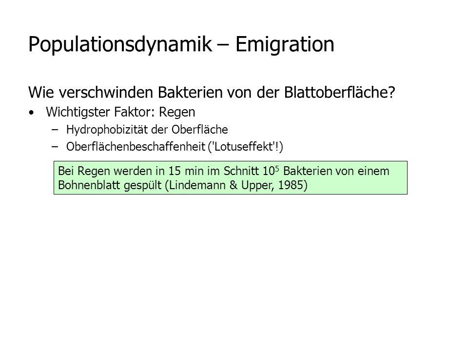 Populationsdynamik – Emigration