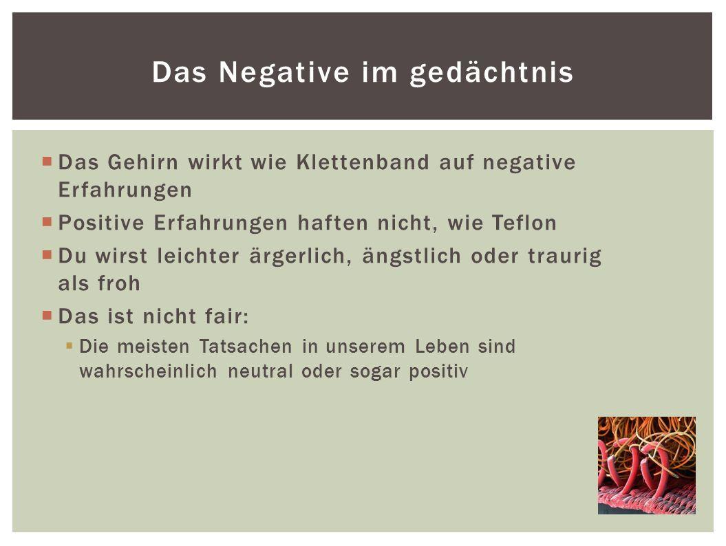 Das Negative im gedächtnis