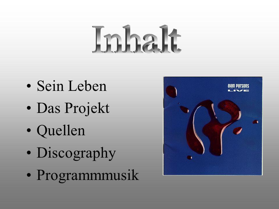 Inhalt Sein Leben Das Projekt Quellen Discography Programmmusik