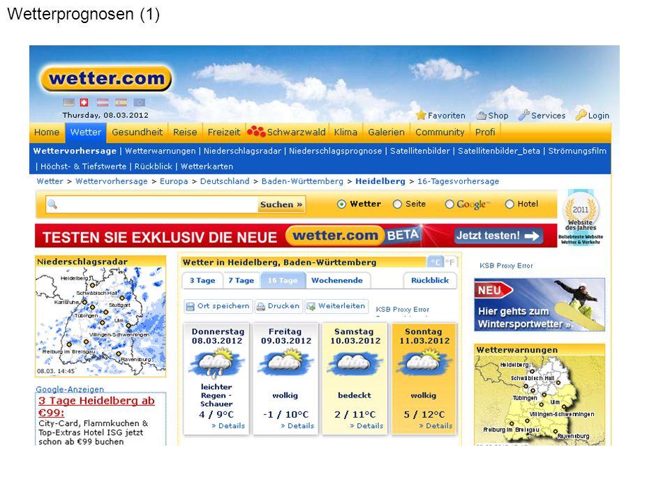 Wetterprognosen (1)