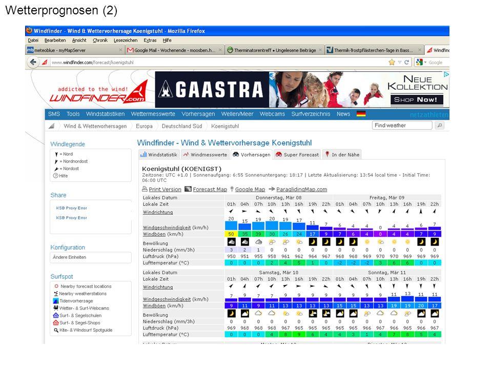 Wetterprognosen (2)