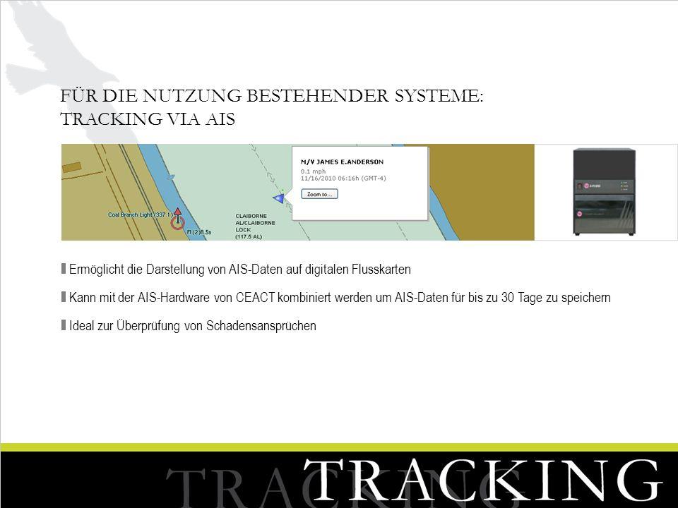 Für die Nutzung bestehender Systeme: Tracking via AIS