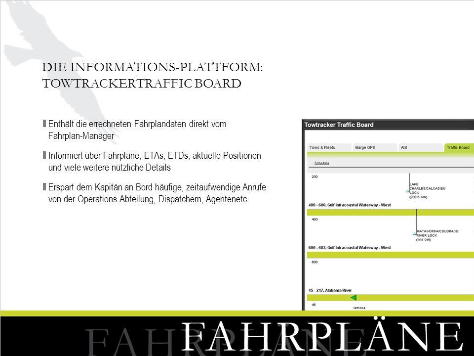 Die Informations-Plattform: TowtrackerTraffic Board