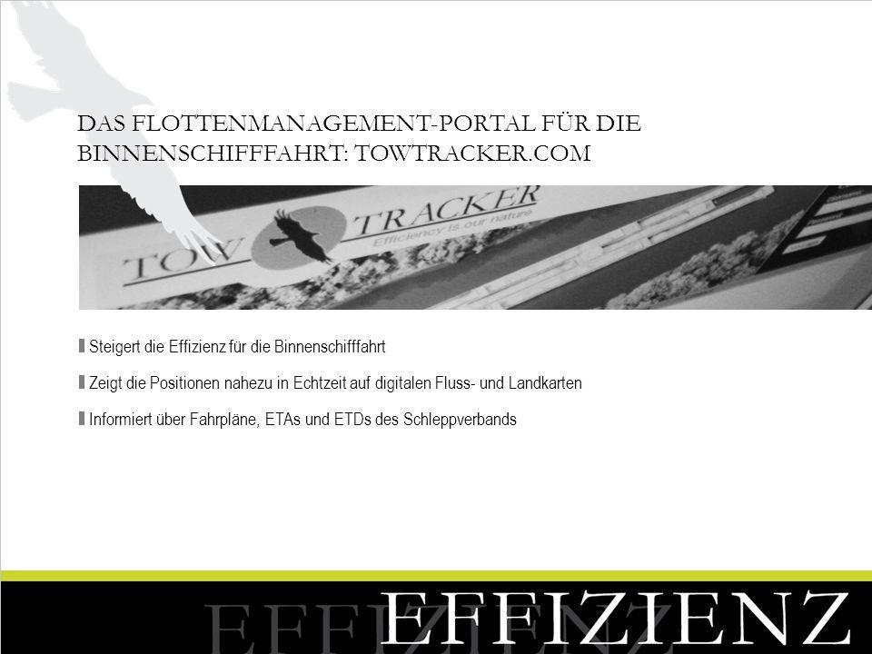 Das Flottenmanagement-Portal für die Binnenschifffahrt: Towtracker.com