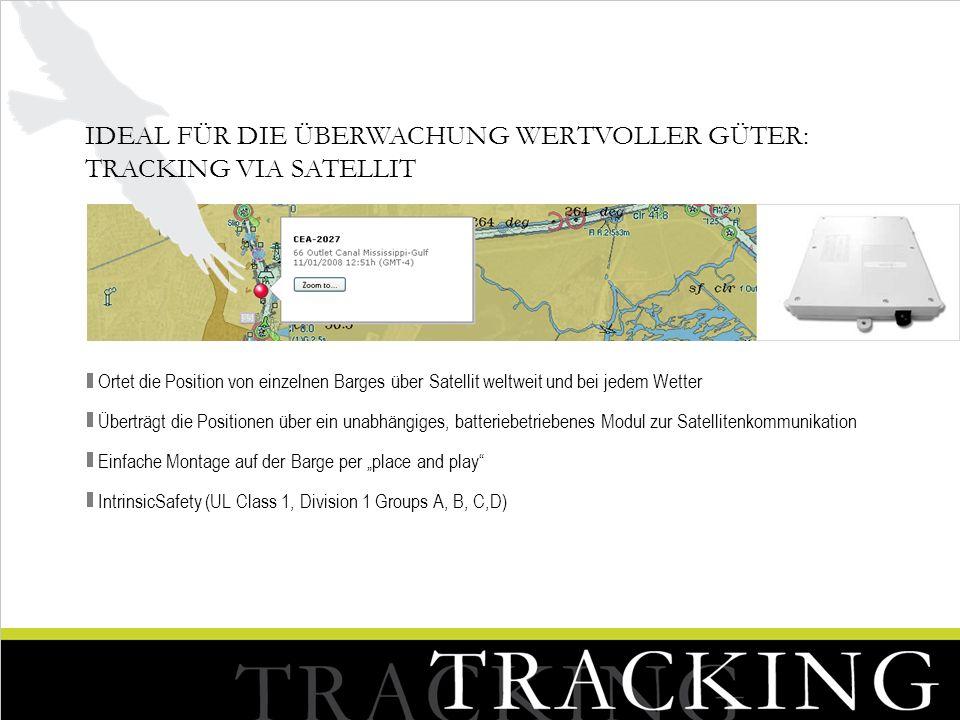 Ideal für die Überwachung wertvoller Güter: Tracking via Satellit