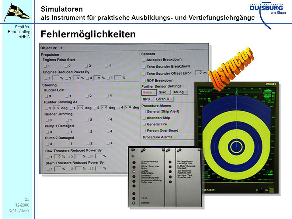instructor Fehlermöglichkeiten