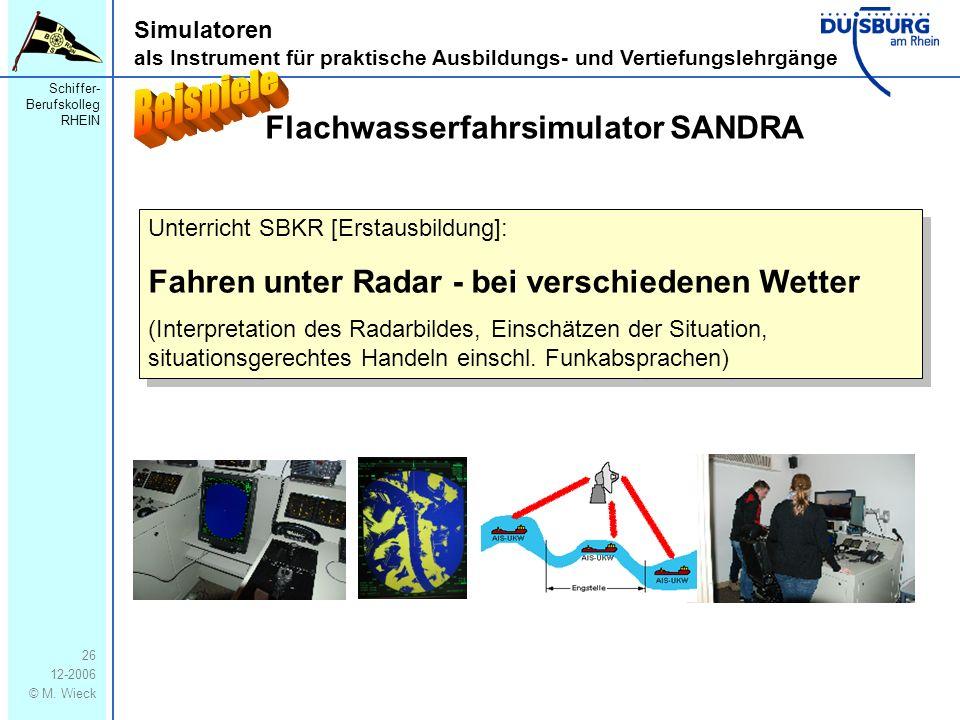 Beispiele Flachwasserfahrsimulator SANDRA