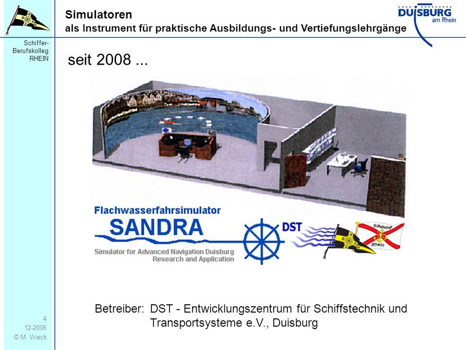 Simulatoren als Instrument für praktische Ausbildungs- und Vertiefungslehrgänge