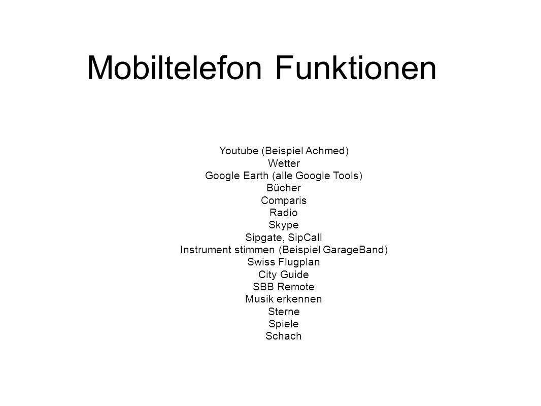Mobiltelefon Funktionen