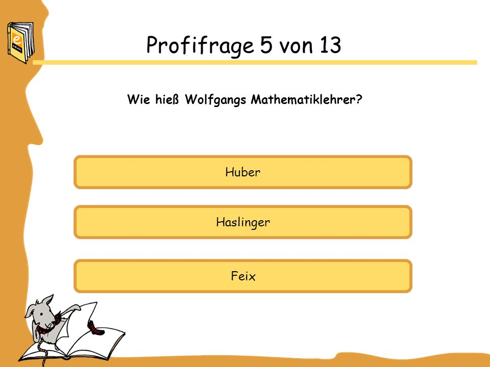 Wie hieß Wolfgangs Mathematiklehrer