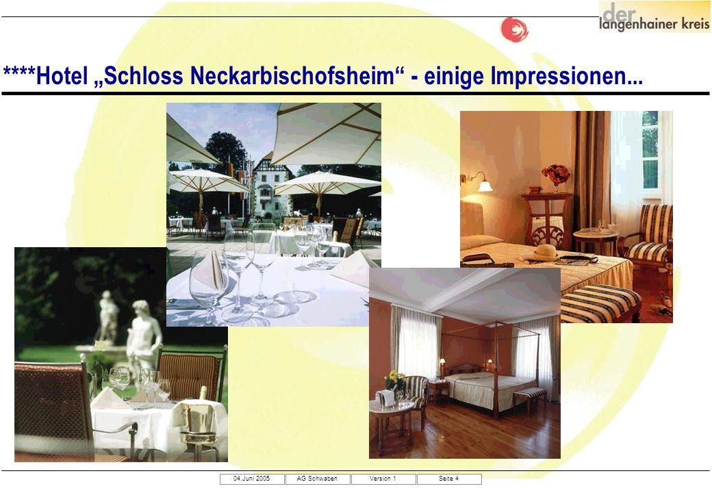 """****Hotel """"Schloss Neckarbischofsheim - einige Impressionen..."""