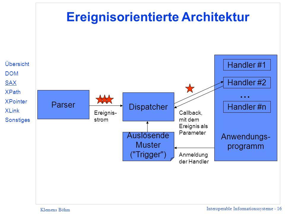 Ereignisorientierte Architektur