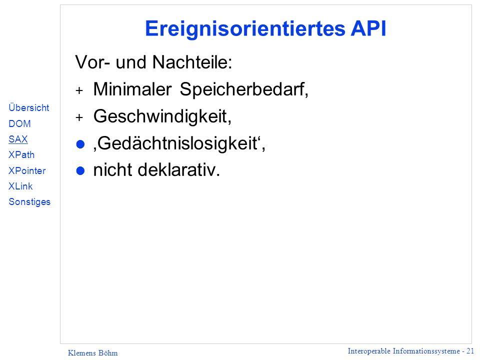 Ereignisorientiertes API