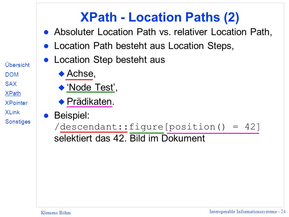 XPath - Location Paths (2)