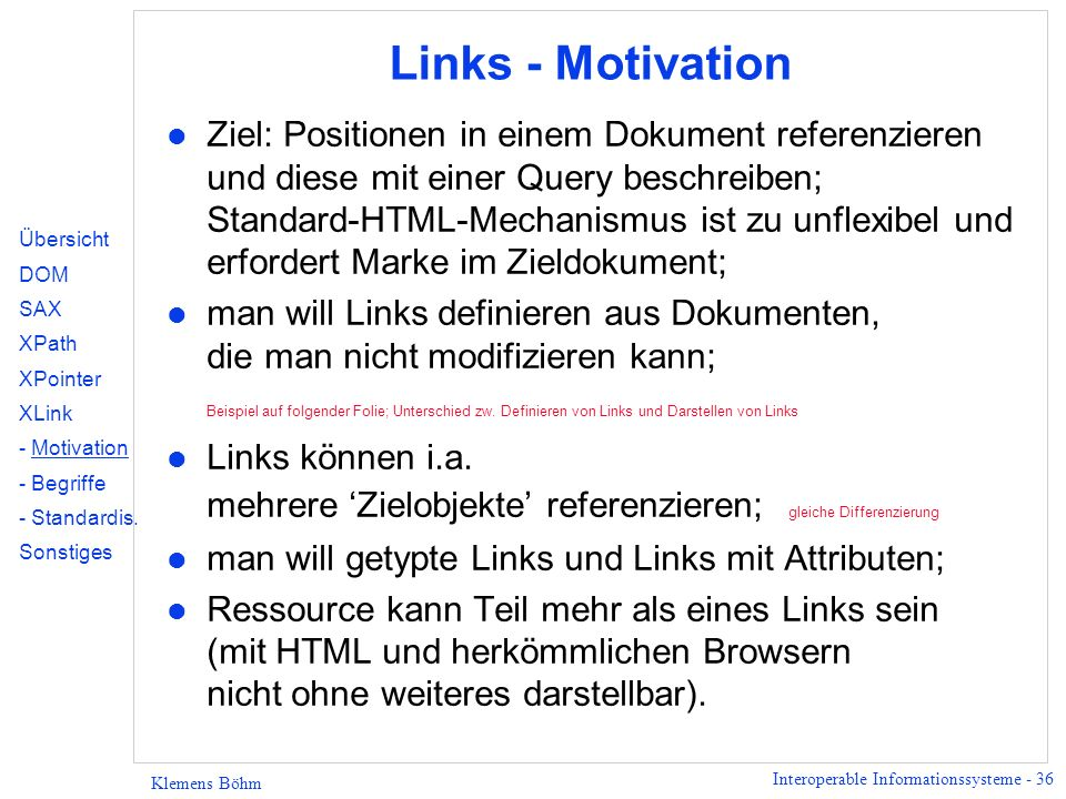 Links - Motivation