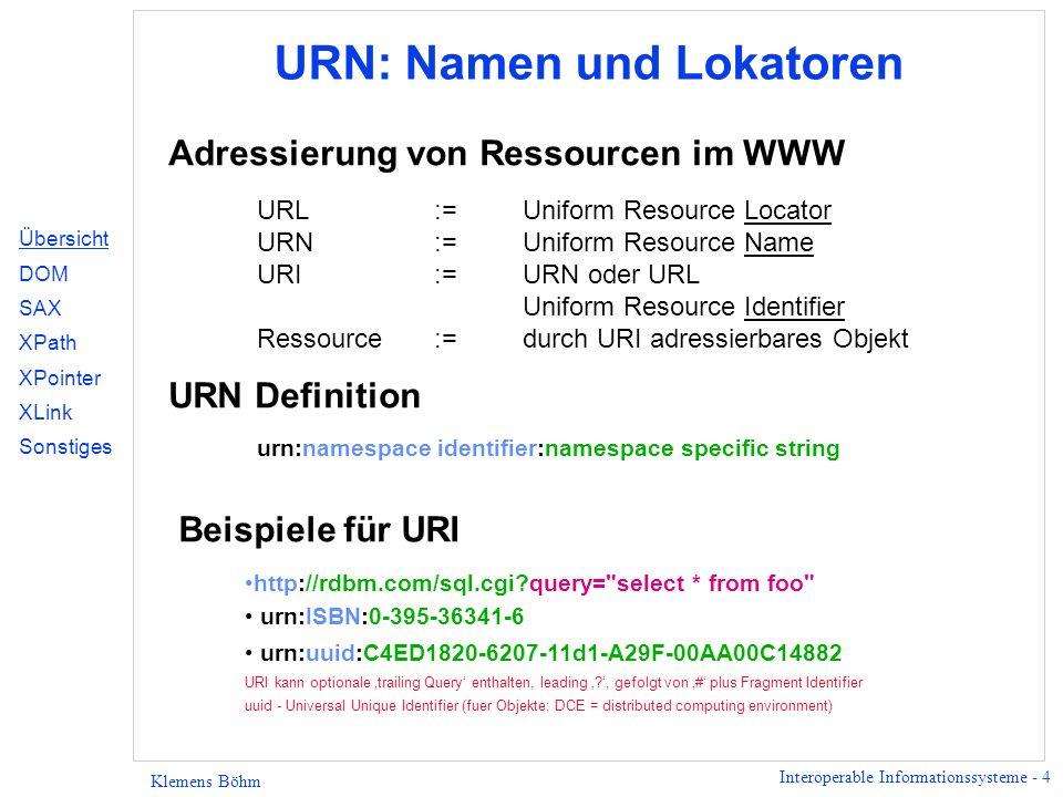 URN: Namen und Lokatoren