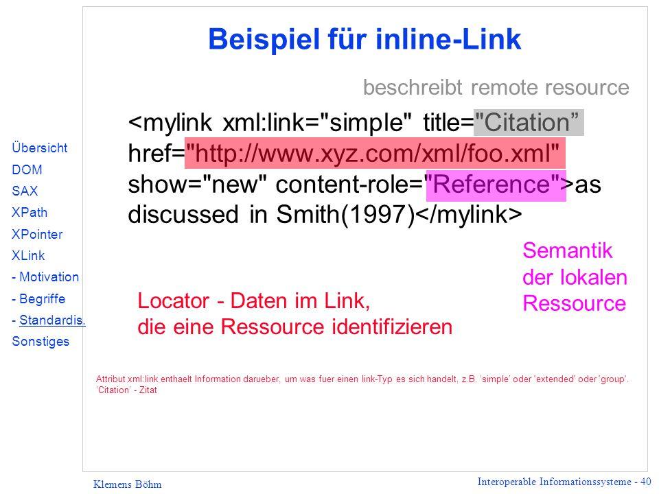 Beispiel für inline-Link