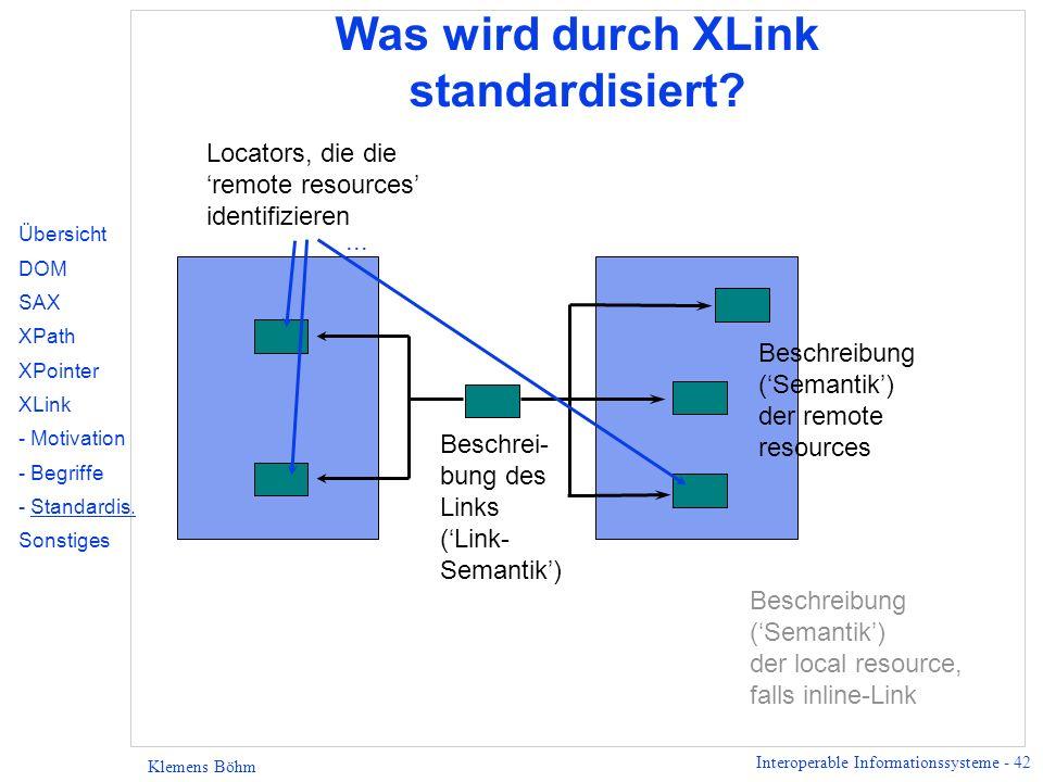 Was wird durch XLink standardisiert