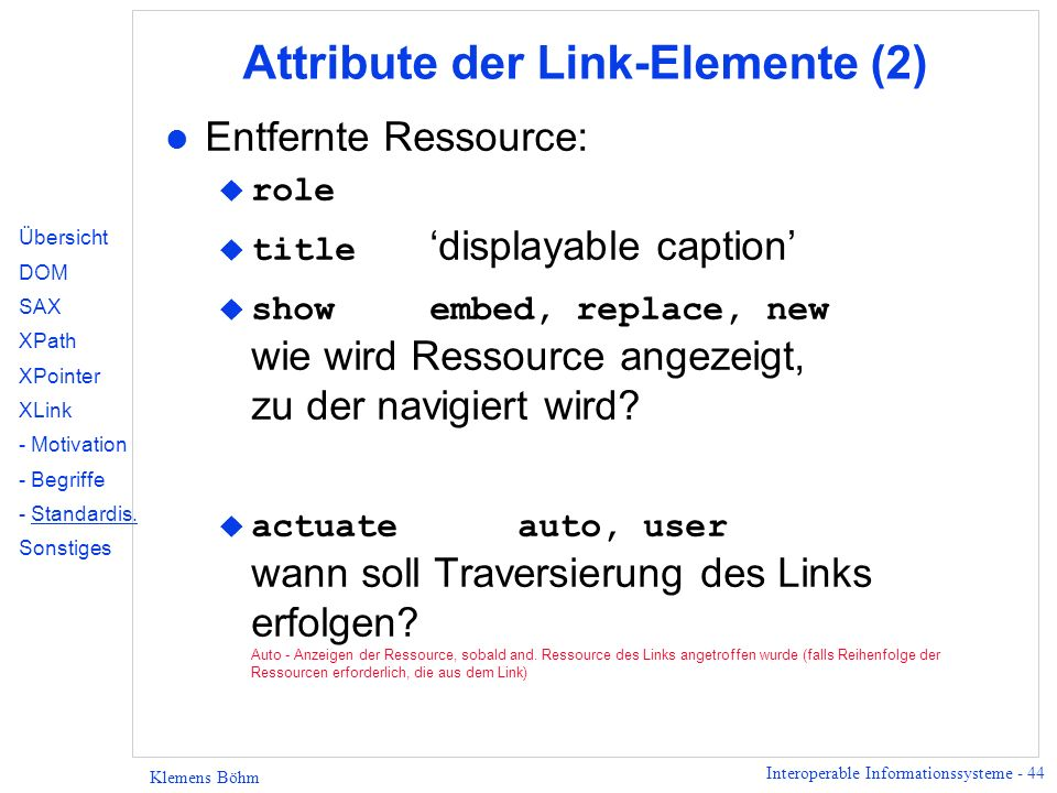 Attribute der Link-Elemente (2)