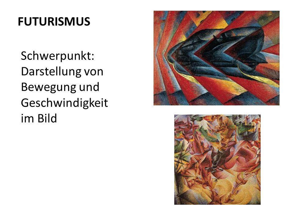FUTURISMUS Schwerpunkt: Darstellung von Bewegung und Geschwindigkeit im Bild