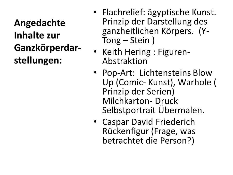 Angedachte Inhalte zur Ganzkörperdar-stellungen: