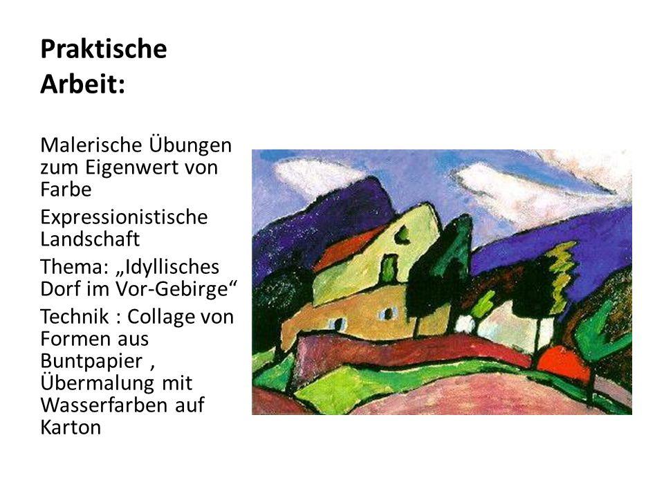 Praktische Arbeit: Malerische Übungen zum Eigenwert von Farbe