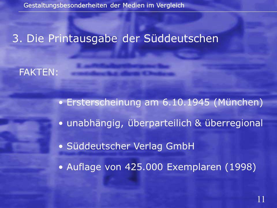 3. Die Printausgabe der Süddeutschen