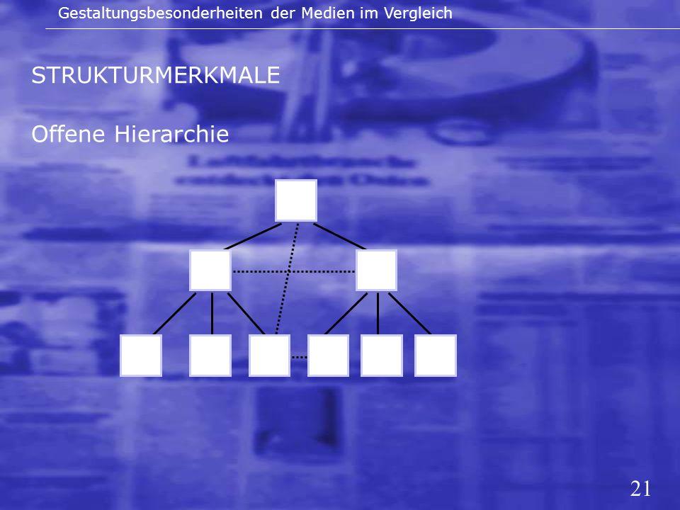 STRUKTURMERKMALE Offene Hierarchie 21