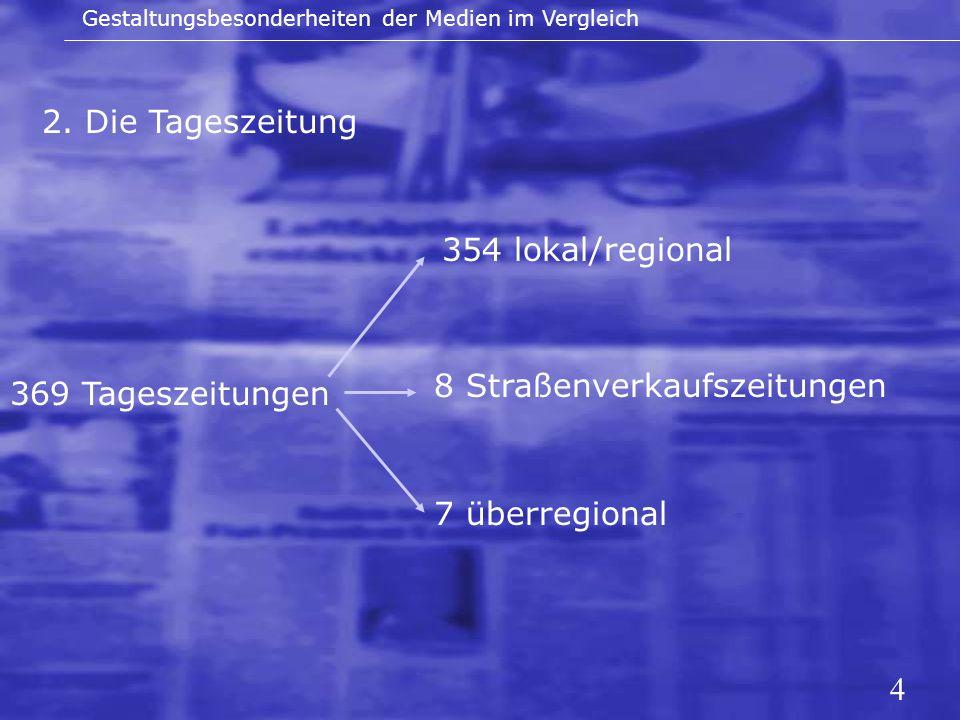 8 Straßenverkaufszeitungen 369 Tageszeitungen