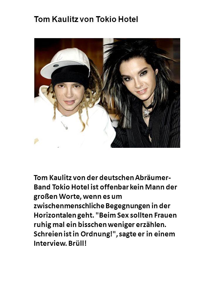 Tom Kaulitz von Tokio Hotel