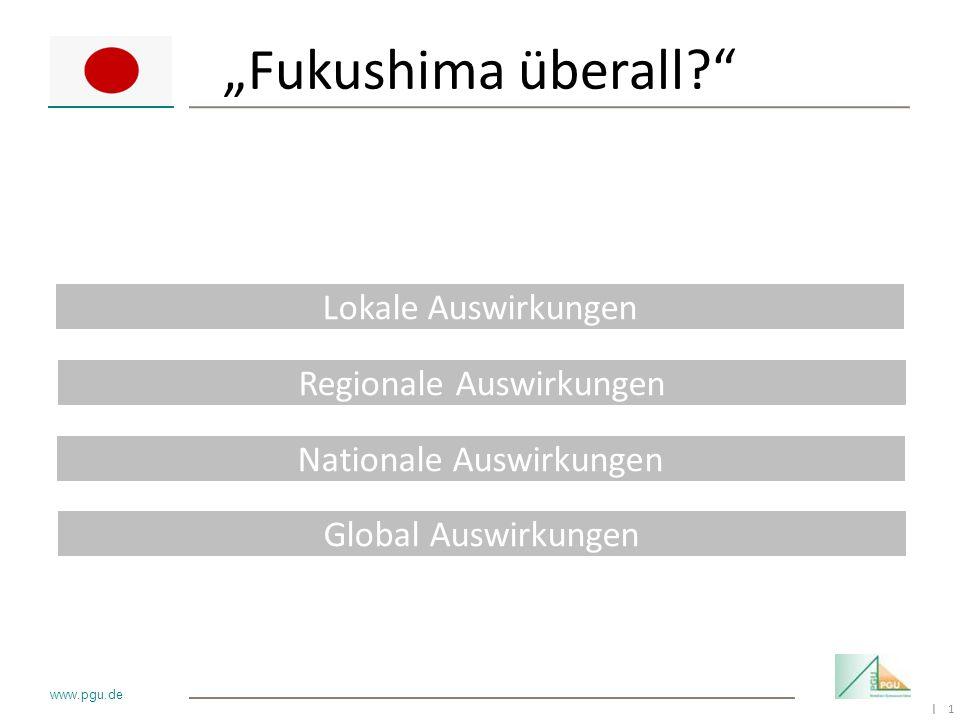 """""""Fukushima überall Lokale Auswirkungen Regionale Auswirkungen"""