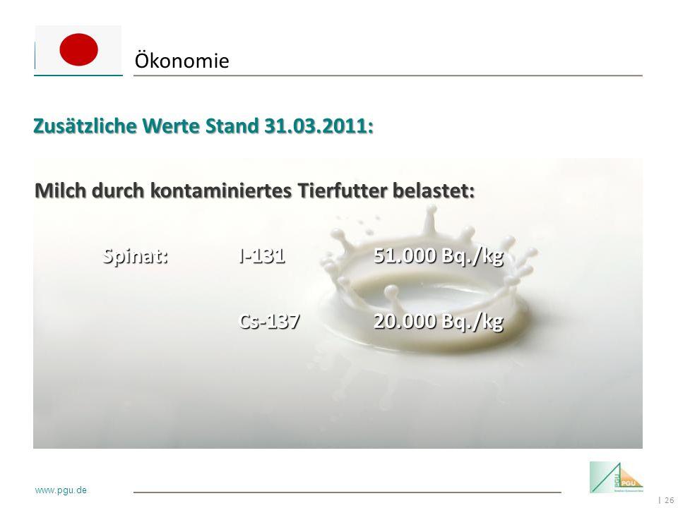 Ökonomie Zusätzliche Werte Stand 31.03.2011: