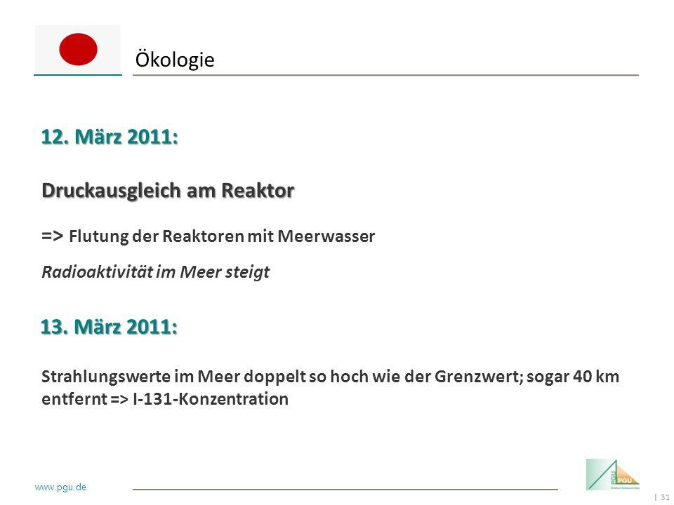 Ökologie 12. März 2011: Druckausgleich am Reaktor
