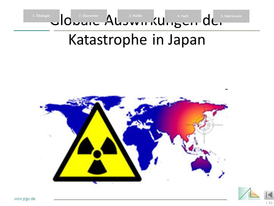 Globale Auswirkungen der Katastrophe in Japan