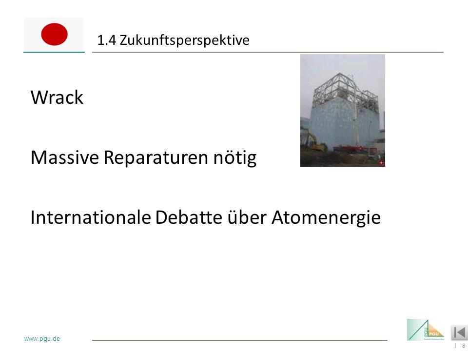 1.4 Zukunftsperspektive Wrack Massive Reparaturen nötig Internationale Debatte über Atomenergie