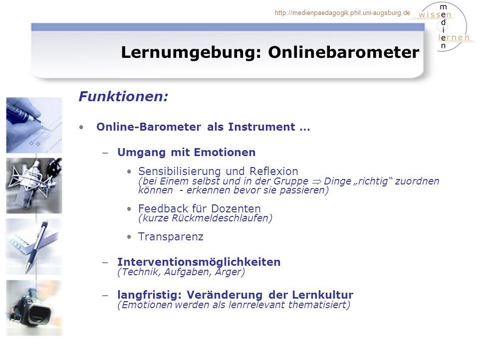 Lernumgebung: Onlinebarometer