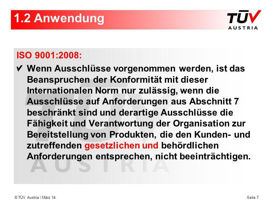 1.2 Anwendung ISO 9001:2008: