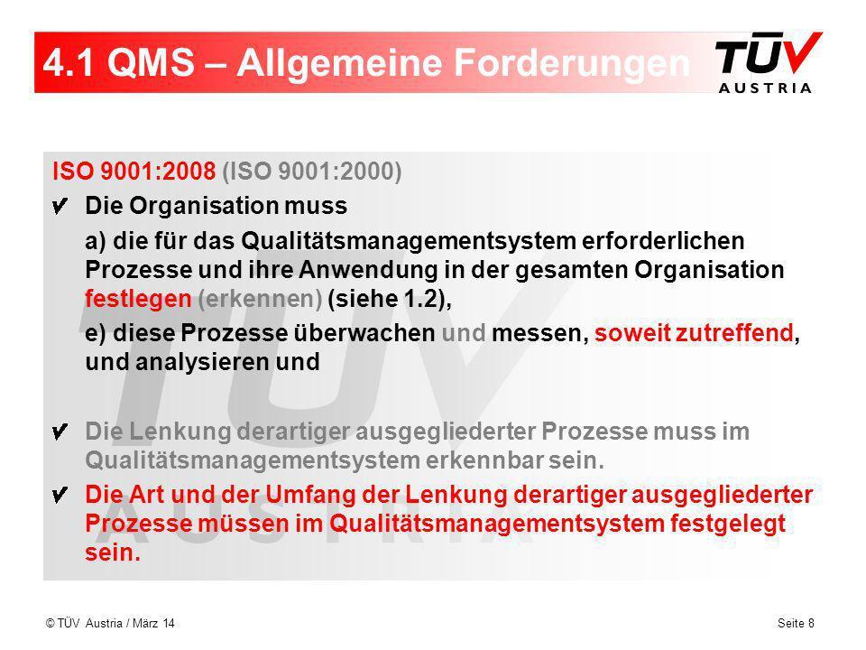 4.1 QMS – Allgemeine Forderungen