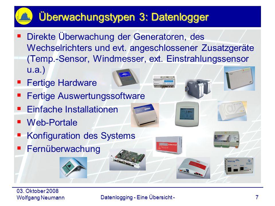Überwachungstypen 3: Datenlogger