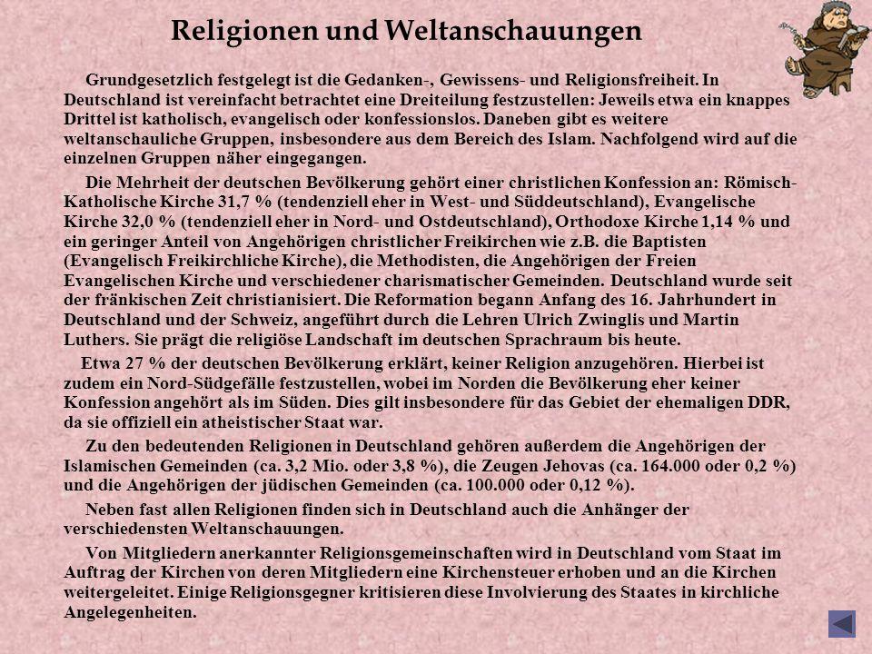 Religionen und Weltanschauungen