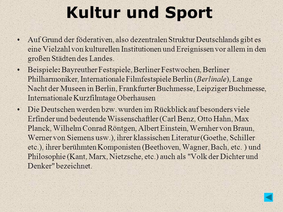 Kultur und Sport
