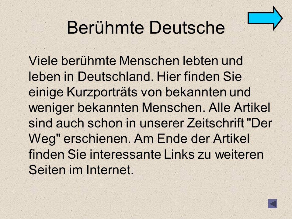 Berühmte Deutsche