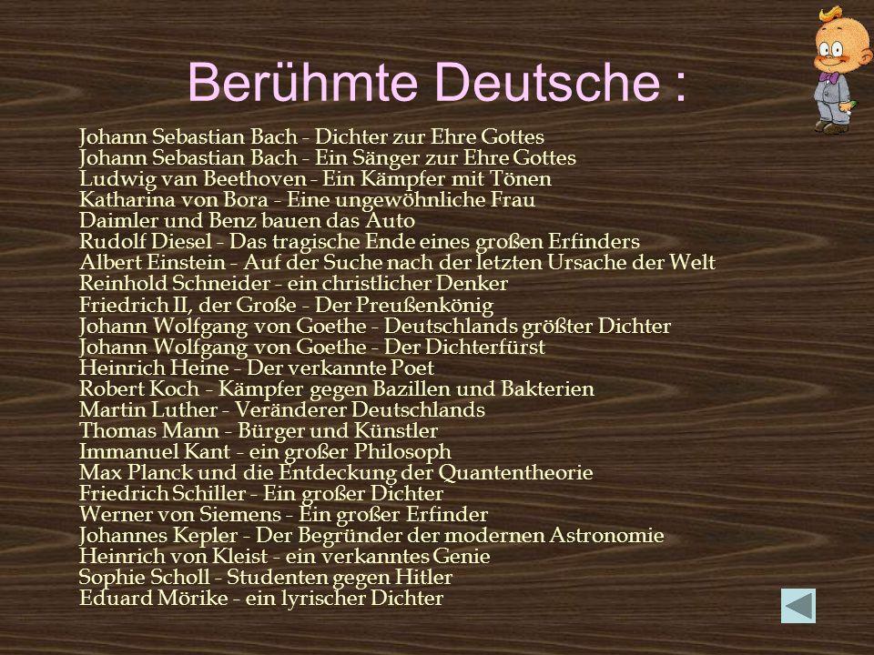 Berühmte Deutsche :